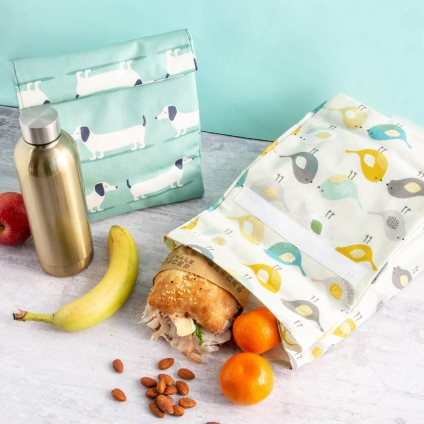 Reusable Oil Cloth Lunch Bag - Dachshund