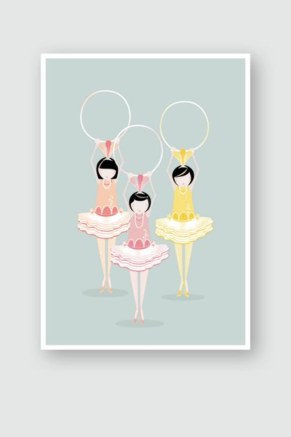PIPPI, POPPY AND POSEY | A4 | PASTEL PARADE ART PRINT