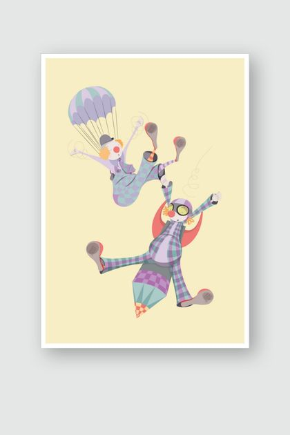 WALTER & THEODORE | A4 | PASTEL PARADE ART PRINT