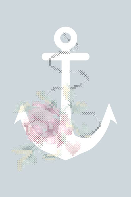 ANCHORED | COMPLETE CROSS STITCH KIT | A3