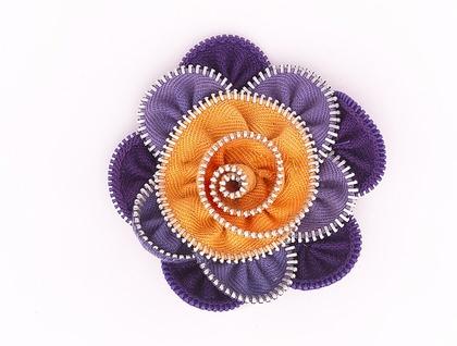Vintage  Violet Lotus flower Brooch