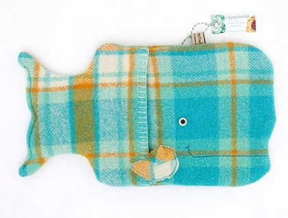 Aqua Whale Hottie Cover / P.J. Case