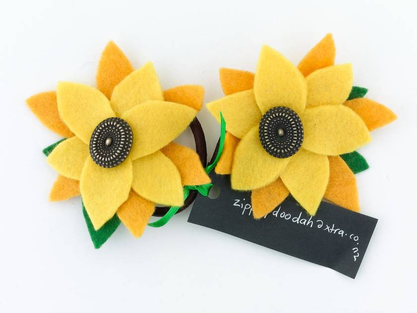 Felt Flower Hairties