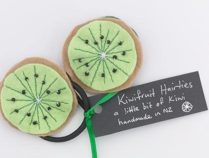 Kiwifruit hairties from Zippitydoodah