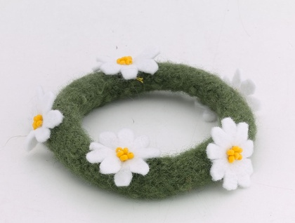 Felted Daisy Bangle from Zippitydoodah