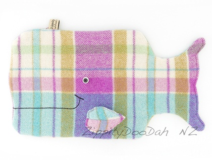 Whale Hottie Cover / P.J. Case Purple/pink/Aqua tartan