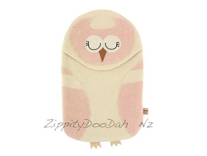 Vintage Owl Hottie Cover Vintage Pink/Cream