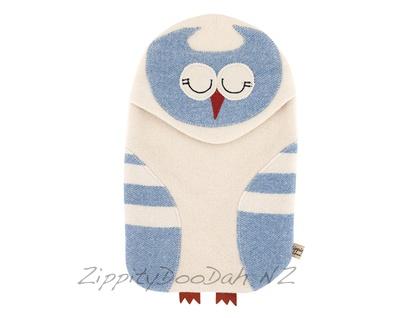 Vintage Owl Hottie Cover Vintage Blue/ Cream