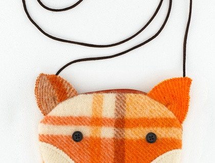Fox Purse -removable shoulder strap