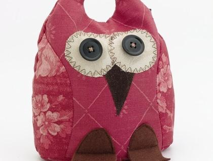 Owl Doorstop- Morepork Butler - Scarlett
