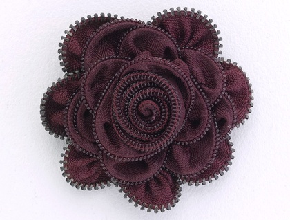 Dark Burgundy rose Zippitydoodah Brooch