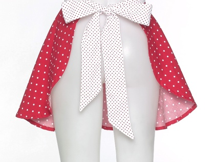 Vintage Inspired Pinnie - Polka Dot Apron
