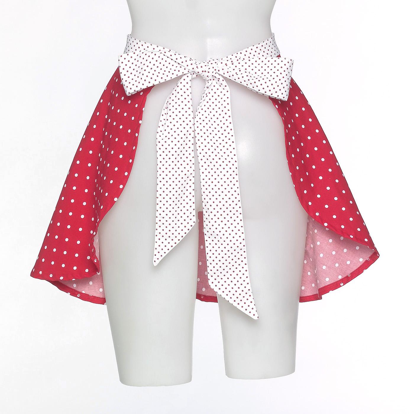 Buy white apron nz - Vintage Inspired Pinnie Polka Dot Apron