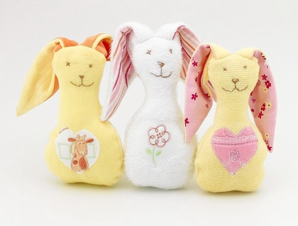 Snuggle Bunny rattle toy -Zippitydoodah