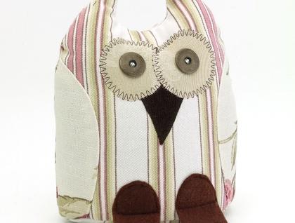 Owl Doorstop- Morepork Butler - Hydrangea