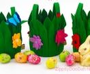Leafy floral purse/basket/ bag