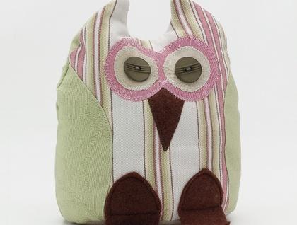 Owl Doorstop- Morepork Butler - Candy