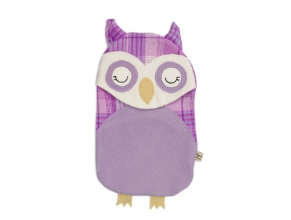 Vintage Owl Hottie Cover -purple rein