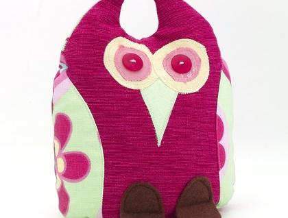 Owl Doorstop - bright pink Sophie