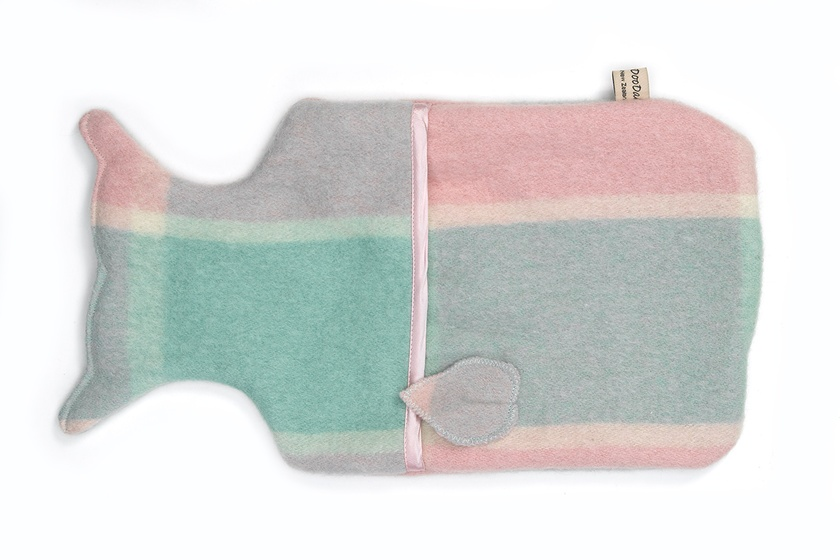 Whale Hottie Cover / Seaglass green/pink