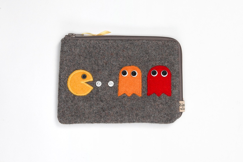 PacMan Mini Ipad Cover - Grey