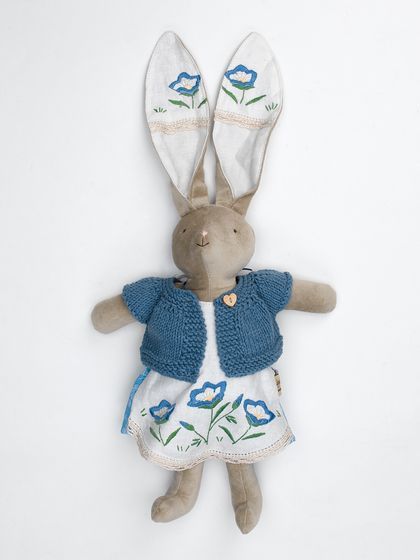 Emily Bunny with Denim Blue Cardigan
