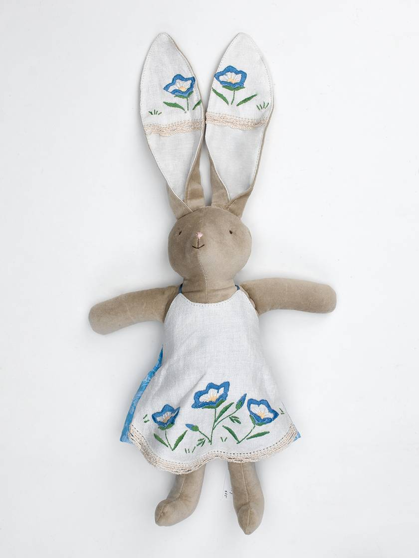Emily Bunny with Denim Blue Cardigan