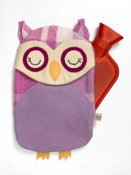 Vintage Owl Hottie Cover -purple rein