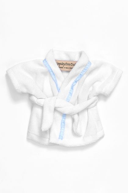 White Cotton Bathrobe to fit Zippitydoodah velveteen Rabbits