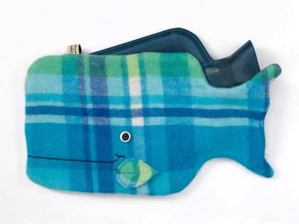 Whale Hottie Cover / Bright tartan