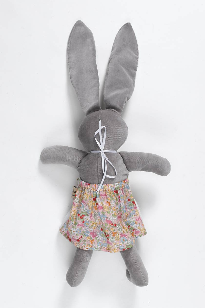 Harriet Velveteen GREY Rabbit  Doll