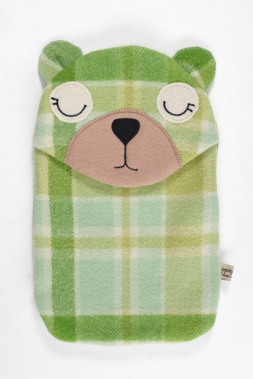 Bear Hottie Cover - Bright Greens