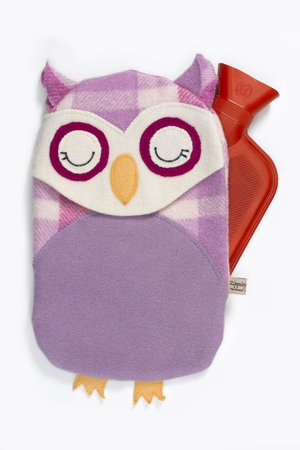 Vintage Owl Hottie Cover -Purple