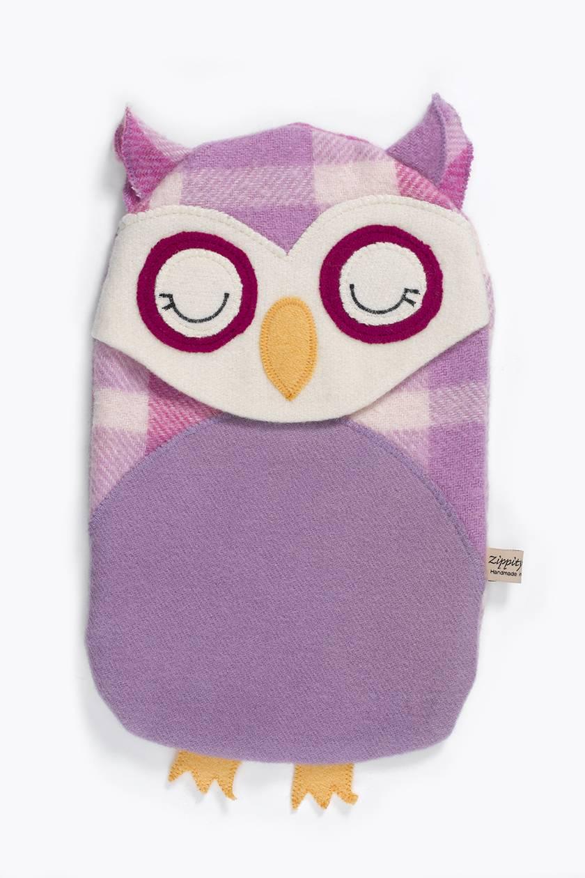 Vintage Owl Hottie Cover -Purple