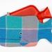 Whale Hottie Cover / Blues/pink/aqua