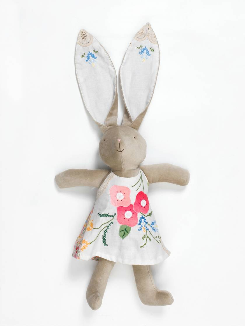 Peach Bunny Velveteen Rabbit