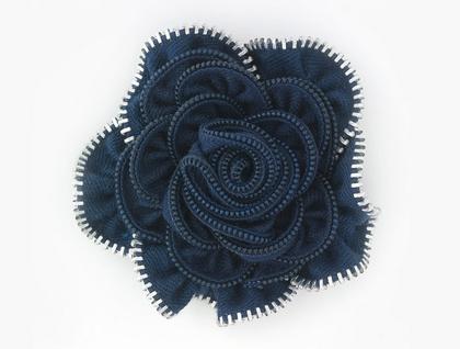 Navy/Silver Vintage Rose Zippitydoodah
