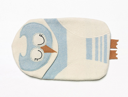 Owl Soft Blue vintage HottieCover