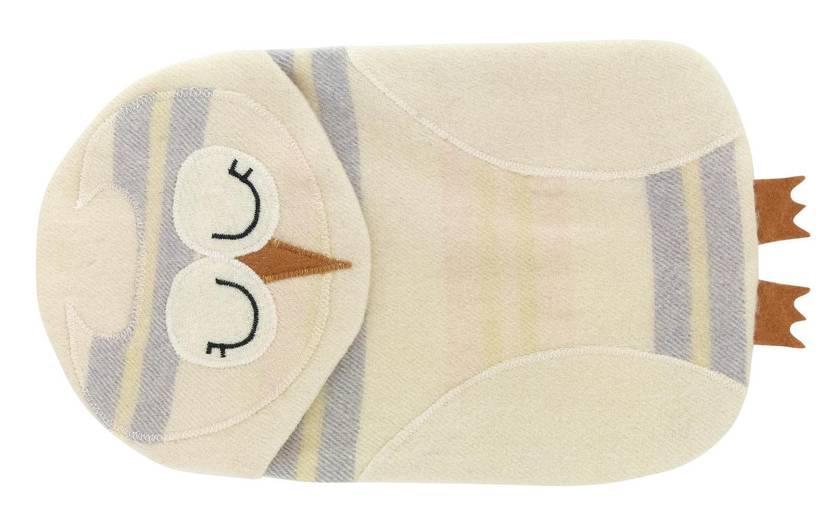 Vintage Owl Hottie Cover Pink/lilac/lemon/cream