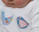 Peg Baby : Organic Cotton Rockin' Robin Bodysuit