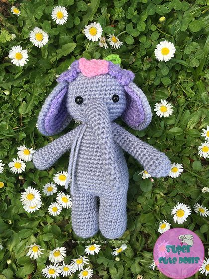 "Crochet ""Bella, the elephant"""