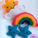 Crochet Sun Stars and Rainbow Wall hanging/Mobile