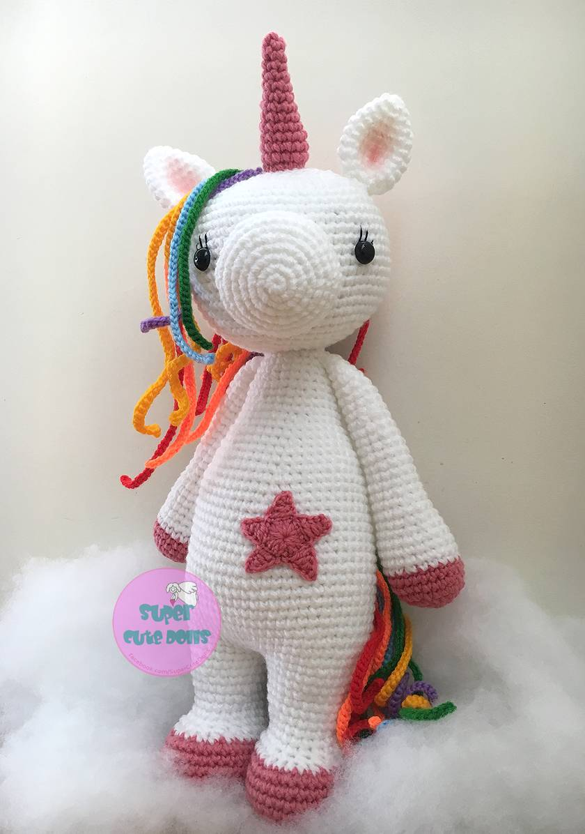 Crochet Large Unicorn, 50cm tall!