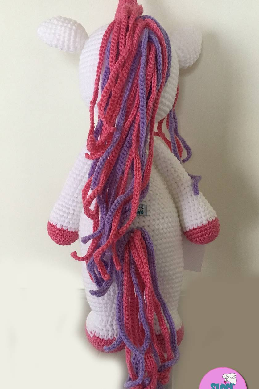 Crochet Large Unicorn, 56cm tall! *Made to order only*