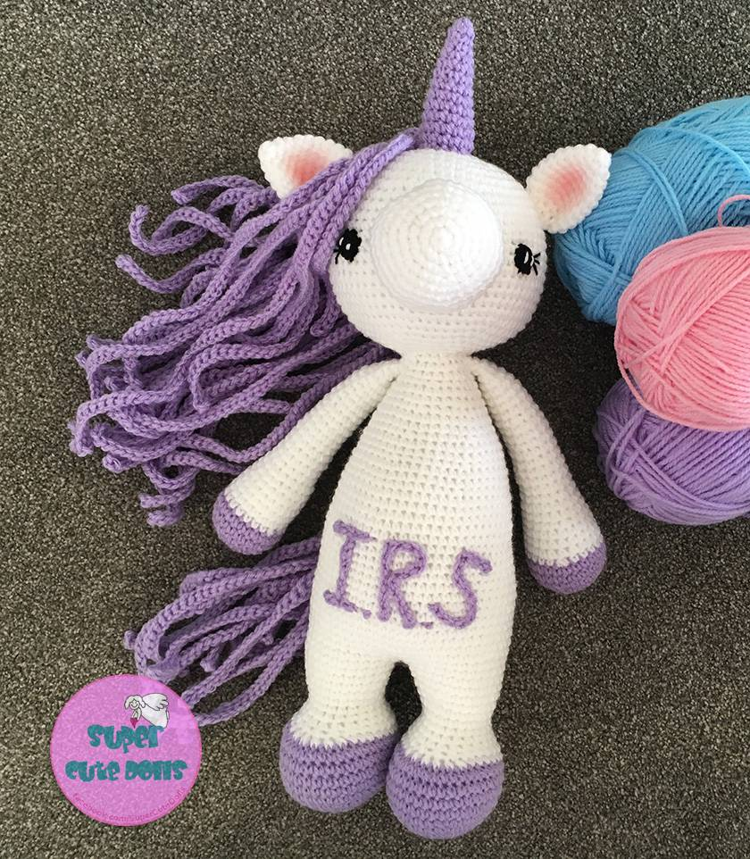 Crochet Unicorn, size M *Made to order only*