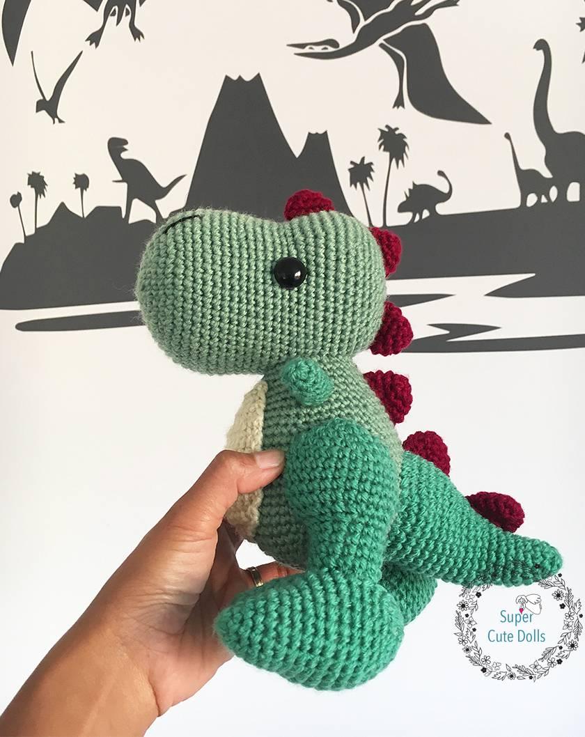Crochet Amigurumi Dinosaur Free Patterns - Cool Creativities | 1058x840