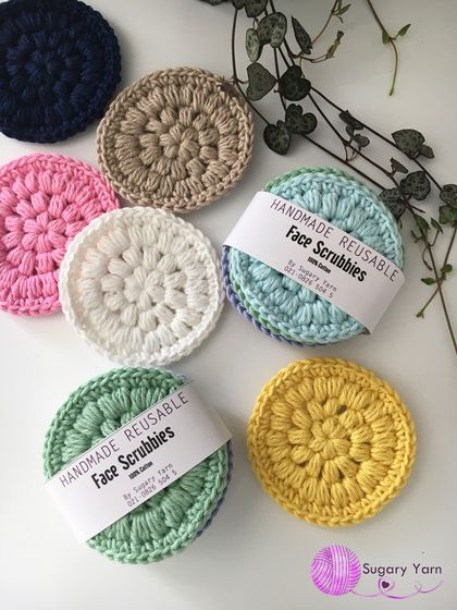 Handmade reusable face scrubbies Set 1 - MADE TO ORDER ONLY