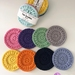 Handmade reusable face scrubbies Set 2 - MADE TO ORDER ONLY