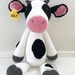 Hand Crochet Large Cow Soft Toy