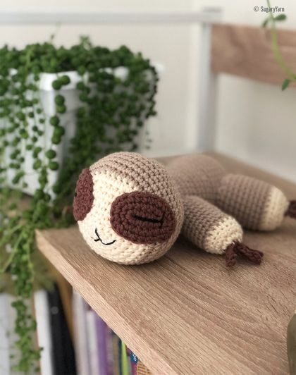 Crochet Sleeping Baby Sloth | made to order only